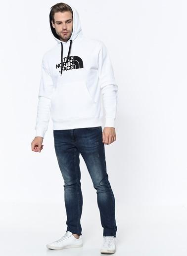 The North Face Erkek Hoodie Drew Peak Pullover Nf00Ahjyla91 Beyaz